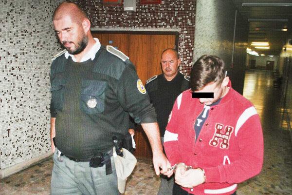 Filip Okoličány na košickom súde, ktorý rozhodoval o väzbe.