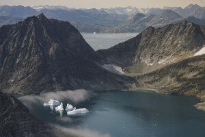 Topiace ľadovce vo východnom Grónsku.