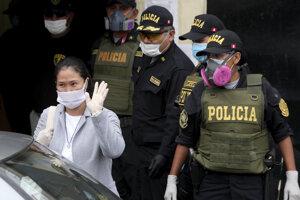 Opozičná líderka Keiko Fujimoriovú po prepustení z väzenia.