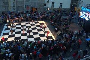Živý šach v Banskej Štiavnici.