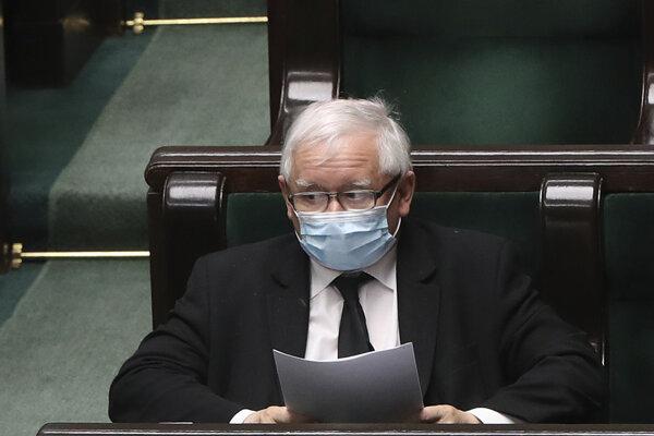 Predseda vládnucej strany Právo a spravodlivosť Jaroslaw Kaczynski.