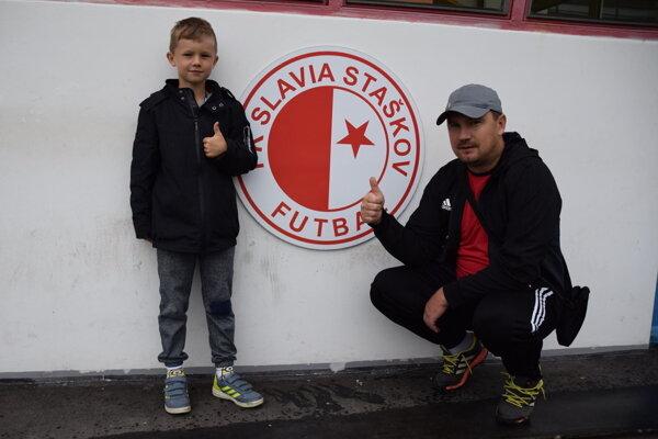 Tréner Slávie Staškov Michal Gottwald so synom.