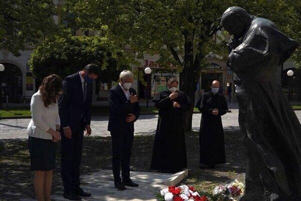 Spomienka na Jána Pavla II. v Prešove.