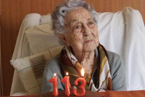 Maria Branyas zo Španielska sa vyliečila z ochorenia Covid-19.