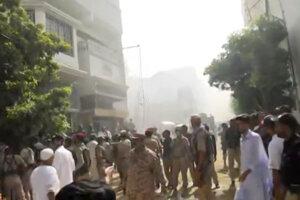 Miesto nehody v Karáčí.