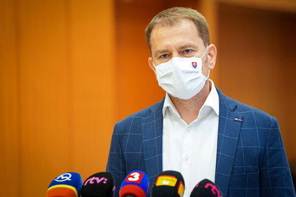 Predseda vlády Igor Matovič.
