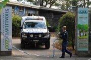 Polícia v austrálskej zoo Shoalhaven 29. mája 2020.