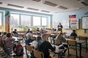 Vyučovanie na ZŠ Tupolevova 20 v Bratislave.