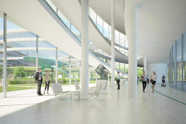 Návrh centrály spoločnosti Eset z roku 2017.