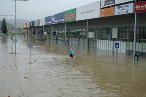Povodne 2010 - Bardejov pod vodou.