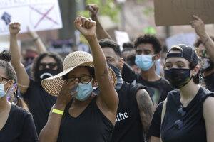 Masové protesty vyvolané Floydovou smrťou.