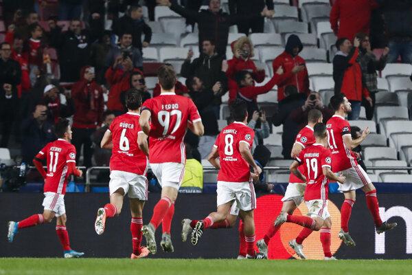 Futbalisti Benfica Lisabon.
