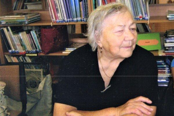 Mária Čobrdová, majsterka ľudovej umeleckej výroby.