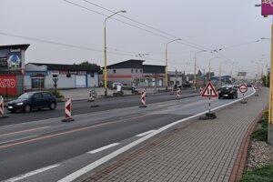Skoré ráno na ceste I/18 v Prešove.