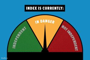 Nezávislosť redakcie maďarského webu Index je ohrozená, oznámilo vedenie v nedeľu.