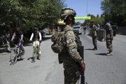 Bezpečnostné sily v afganskom Kábule 24. mája 2020.