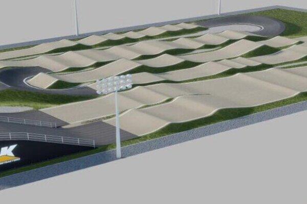 Takto by mohla vyzerať nová BMX dráha.