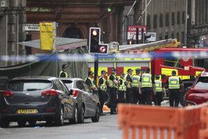 Centrum Glasgowa, kde sa odohral útok nožom.