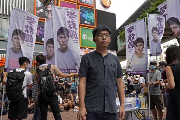 Chuang Č'-feng, známy aj pod poeurópčeným menom Joshua Wong.