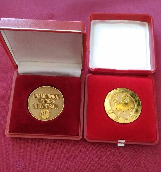 Bronzová medaila Ladislava Jurkemika z ME 1980.