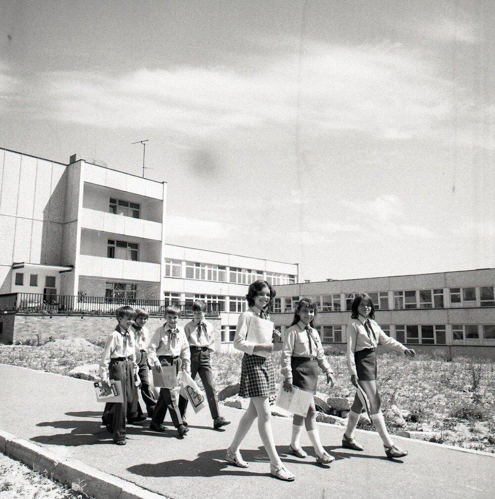 1976. Žiaci zo školy na Bílikovej ulici v Bratislave.