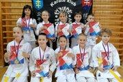 Karatisti z karate klubu Kumade Topoľčany.