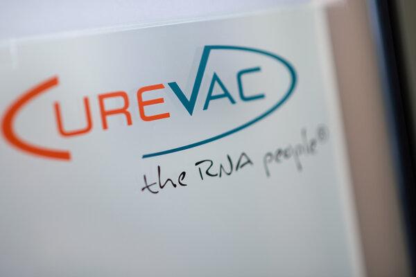 Logo firmy CureVac.
