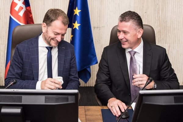 Predseda vlády SR Igor Matovič a minister vnútra Roman Mikulec.