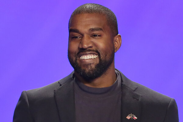 Americký raper Kanye West.