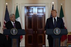 Americký prezident Donald Trump sa v stredu v Bielom dome stretol s mexickým prezidentom Andrésom Manuelom Lópezom Obradorom.