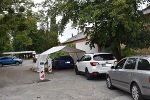 Odbery robia pred amfiteátrom v Prešove.