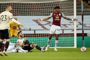 Sporná penalta pre Manchester United v zápase proti Aston Ville.