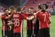Radosť futbalistov FC Spartak Trnava.