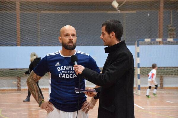 Vladimír Mudrík (v modrom) obliekal nielen dres futbalového Slovanu Skalité, ale aj futsalovej Benficy Čadca.