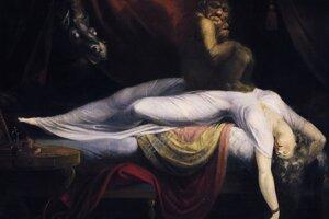 Nočná mora na olejomaľbe Henryho Fuseliho.