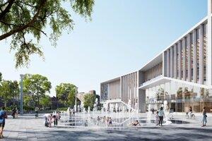 Vizualizácia projektu novej modernej štvrte plnej kultúry, zelene a verejných priestorov s názvom Nový Istropolis, ktorý by mal na Trnavskom mýte.