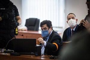 Marian Kočner na súde v prípade vraždy novinára Jána Kuciaka  a jeho snúbenice Martiny Kušnírovej.