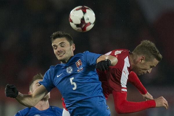 Erik Sabo v drese slovenskej reprezentácie.