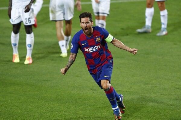 Lionel Messi z FC Barcelona.