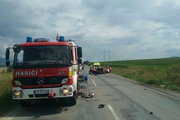 Nehoda sa stala na rovnom úseku.