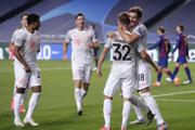 Momentka zo zápasu FC Barcelona - Bayern Mníchov.