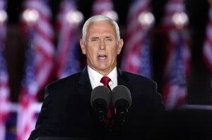 Americký viceprezident Mike Pence hovorí počas tretieho dňa nominačného zjazdu Republikánskej strany 26. augusta 2020 v americkom meste Baltimore.