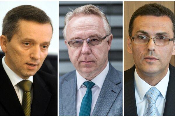 Pravdepodobní kandidáti na post generálneho prokurátora: Jozef Čentéš, Ján Šanta a Maroš Žilinka (zľava).