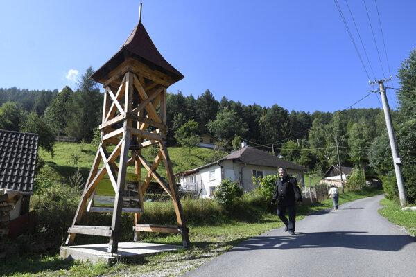 Replika banskej klopačky v Žakarovciach.