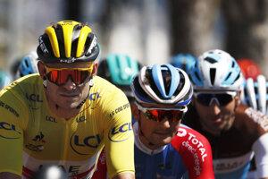 Alexander Kristoff v žltom drese.