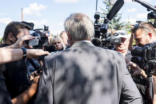 Prokurátor Úradu špeciálnej prokuratúry V. Turan po rozsudku v kauze vraždy novinára Jána Kuciaka a jeho snúbenice Martiny Kušnírovej.