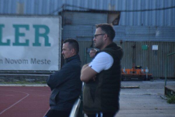 Ľuboš Berešík (vľavo) s manažérom klubu Michalom Pagáčom.
