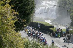 Momentka z pretekov Tirreno-Adriatico.