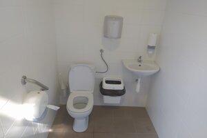 Kultúrne prostredie je už aj na toaletách pri autobusovej stanici.