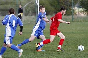 Marek Krajanec (v červenom) zvyšoval na 0:2.
